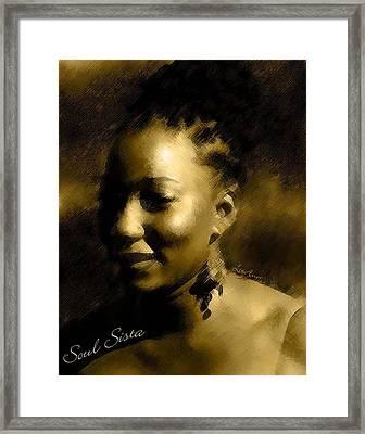 Soul Sista Framed Print by LeeAnn Alexander