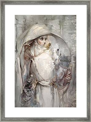 Framed Print featuring the digital art Soul by Te Hu