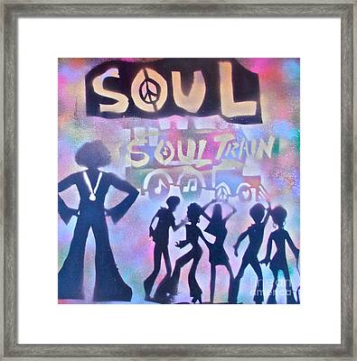 Soul Train 1 Framed Print by Tony B Conscious