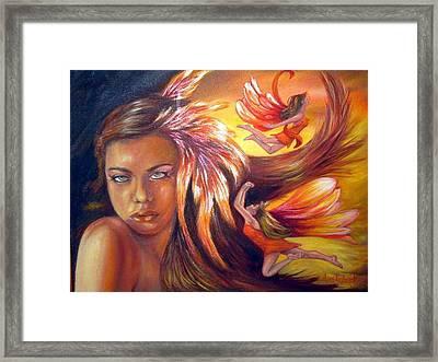 Soulfire Framed Print by Anne Kushnick