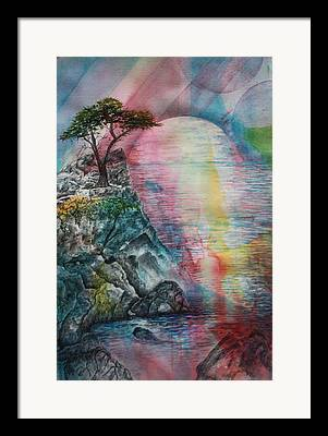 Spiritual Landscape Representing Two Souls Connected Framed Prints