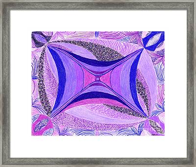 Framed Print featuring the drawing Soulviolet by Kim Sy Ok