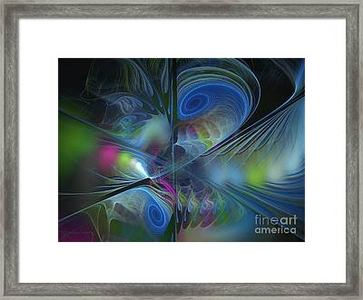 Framed Print featuring the digital art Sound And Smoke by Karin Kuhlmann