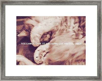 Sound Asleep Quote Framed Print by JAMART Photography