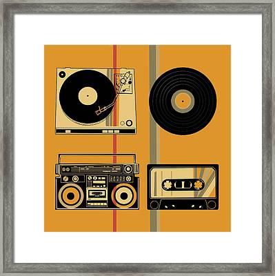 Sound Evolution 10 Framed Print