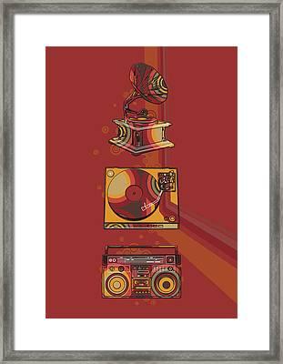 Sound Evolution 5 Framed Print
