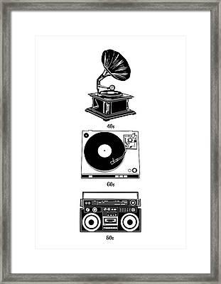 Sound Evolution Framed Print
