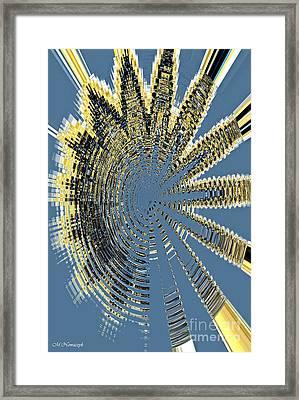 Sound Explosion Framed Print by Marlena Nowaczyk
