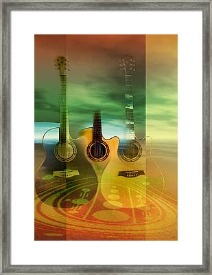 Framed Print featuring the digital art Sound Frequencies by Shadowlea Is
