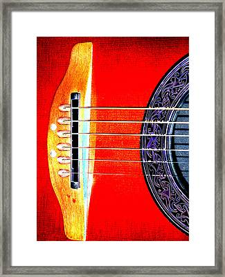 Sound Hole Framed Print by Peter  McIntosh