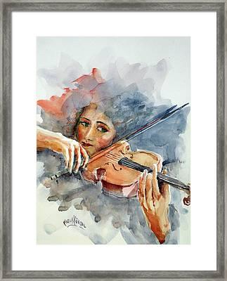 Sound Of Violin... Framed Print
