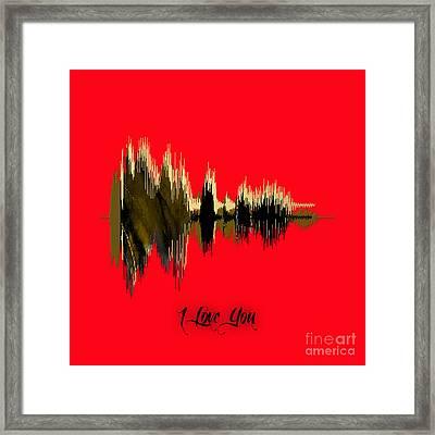 Sound Wave I Love You Framed Print