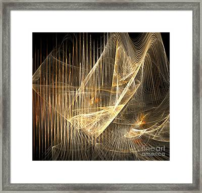 Sound Waves In 3d Framed Print
