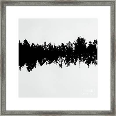 Sound Waves Made Of Trees Reflected Framed Print