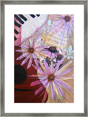 Sounds Like Flowers Framed Print by Christina Fajardo