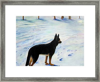 Sounds Of Silence Framed Print by JoLyn Holladay