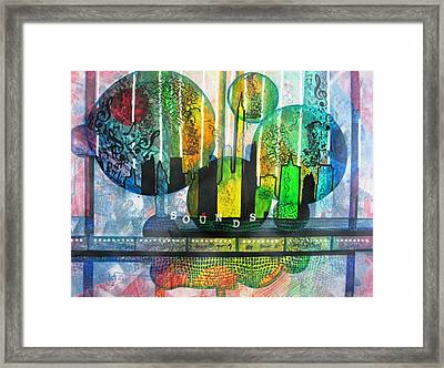 Sounds Of The City Framed Print by David Raderstorf