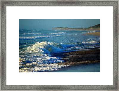 Sounds Of The Surf Framed Print by Dianne Cowen