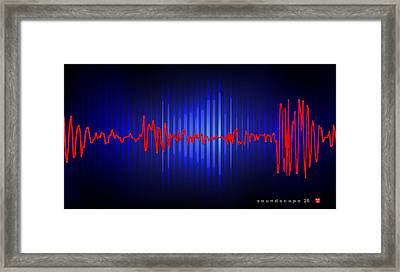 Soundscape 26 Framed Print