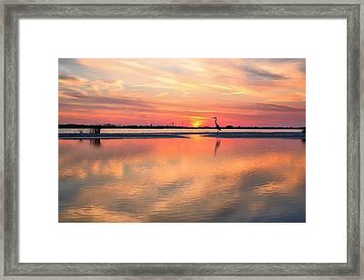 Soundside Sunset Framed Print by JC Findley