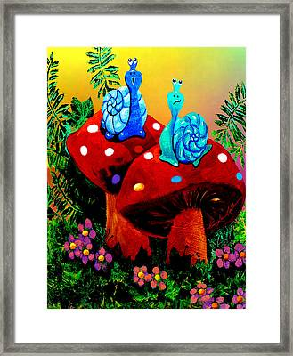Soupy Snails Framed Print by Hanne Lore Koehler