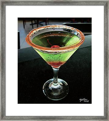 Sour Apple Martini Framed Print