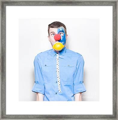 Sour Lemon Clown With Acid Reflux Dyspepsia Framed Print by Jorgo Photography - Wall Art Gallery