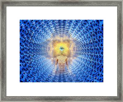 Source For Joe Framed Print by Robby Donaghey