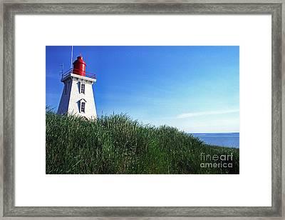 Souris Lightstation Prince Edward Island Framed Print by Thomas R Fletcher