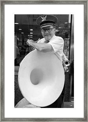 Sousaphone Player Framed Print by Robert Ullmann