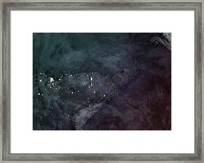 South America Upsidedown Framed Print by Marco Bagni