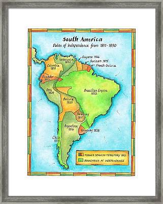 South American Independence Framed Print by Jennifer Thermes