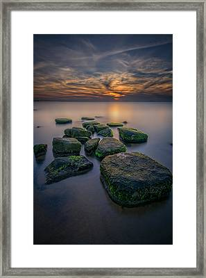 South Bay Serenity Framed Print by Rick Berk