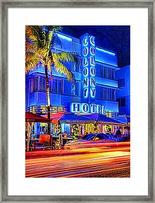 South Beach Art Deco Framed Print by Dennis Cox WorldViews