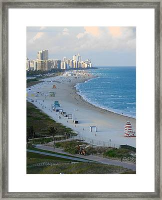 Framed Print featuring the photograph South Beach At Its Best by Margaret Bobb