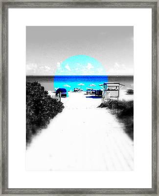 South Beach Blues Framed Print by Funkpix Photo Hunter
