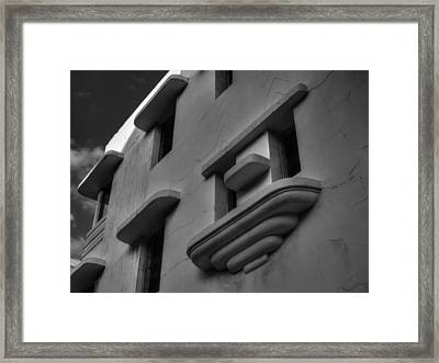 South Beach Deco Elements 001 Bw Framed Print by Lance Vaughn