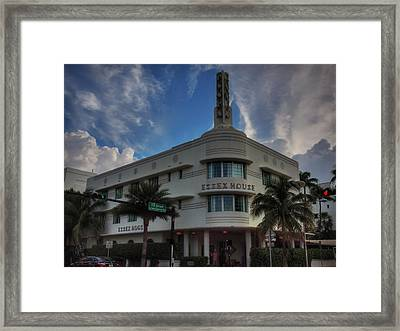 South Beach - Essex House 002 Framed Print by Lance Vaughn