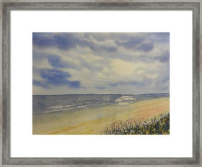 South Beach From The Dunes Framed Print