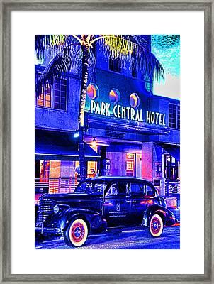 South Beach Hotel Framed Print by Dennis Cox WorldViews