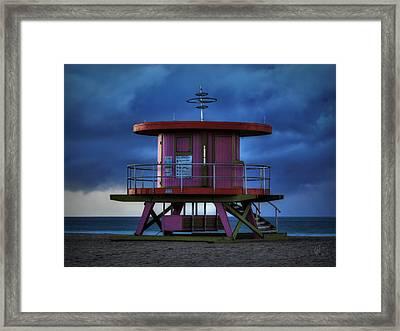 South Beach Lifeguard Station 001 Framed Print