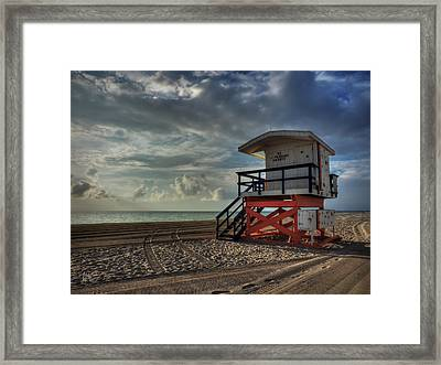 South Beach Lifeguard Station 004 Framed Print