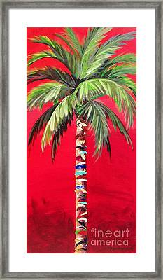South Beach Palm II Framed Print