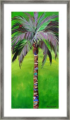 South Beach Palm IIi Framed Print