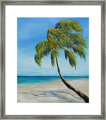 South Beach Palm Framed Print by Michele Hollister - for Nancy Asbell