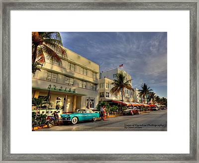 South Beach Park Central Hotel Framed Print