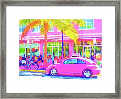 South Beach Pink Framed Print by Dennis Cox WorldViews