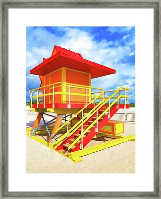 South Beach Station Framed Print by Dennis Cox WorldViews