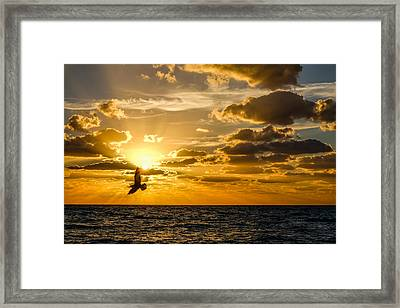 South Beach Sunrise 3 Framed Print