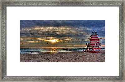 South Beach Sunrise Framed Print